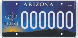 In God We Trust Specialty Plate